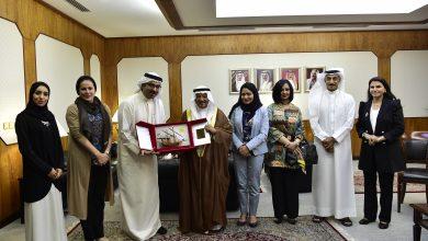 صورة رئيس مجلس الشورى يلتقي وفد جمعية البحرين لتنمية المؤسسات الصغيرة والمتوسطة