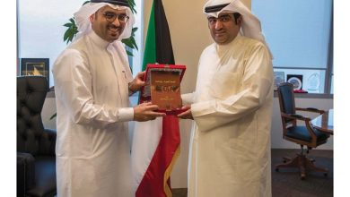 صورة وزير التجارة الكويتي يستقبل رئيس جمعية البحرين لتنمية المؤسسات الصغيرة
